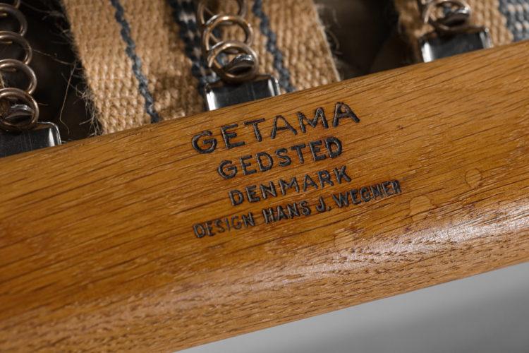fauteuil hans wegner danoise scandinave GE290 getama F044