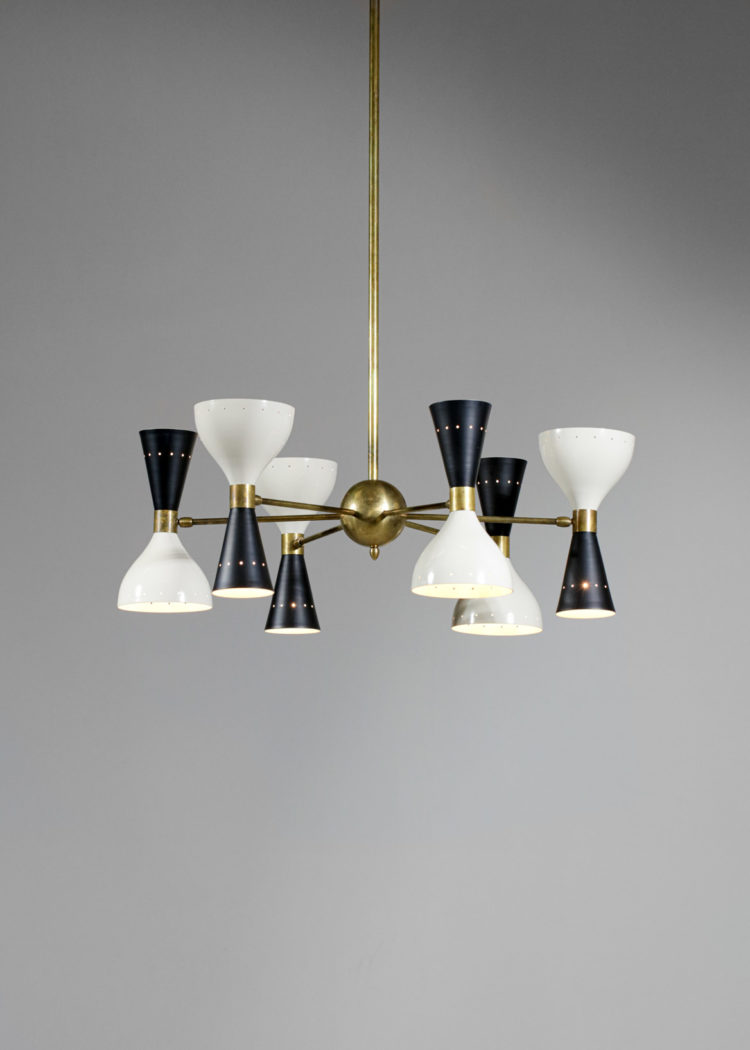 lustre italieen moderne dans le gout de stilnovo vintage design 6 branches16