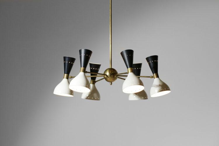 lustre italieen moderne dans le gout de stilnovo vintage design 6 branches ML130