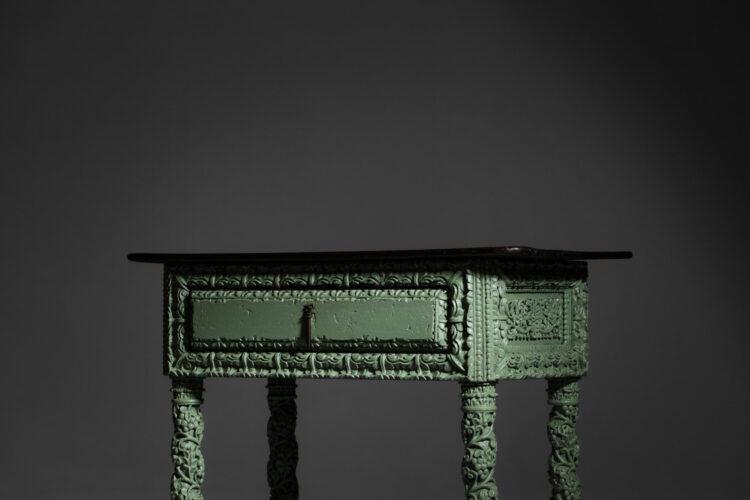 meuble console XIX siecle en bois sculpté piece unique E383