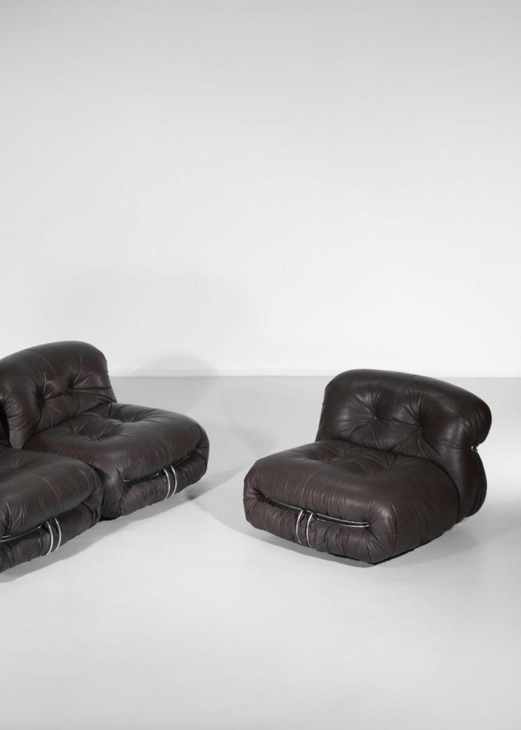 tobbia scarpa soriana set de trois fauteuil italien cassina E393
