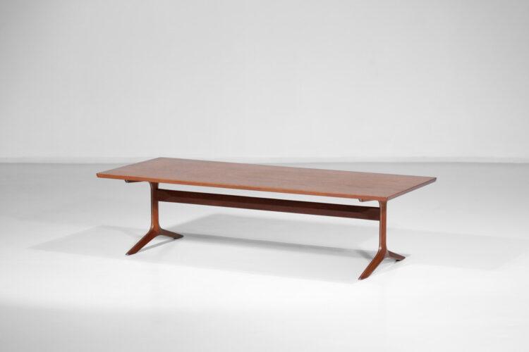table basse peter hvidt et orla molgard danoise scandinave teck années 60