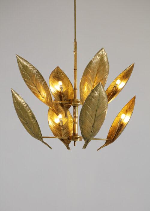 Lustre italien moderne feuille flora style tommaso barby VF104