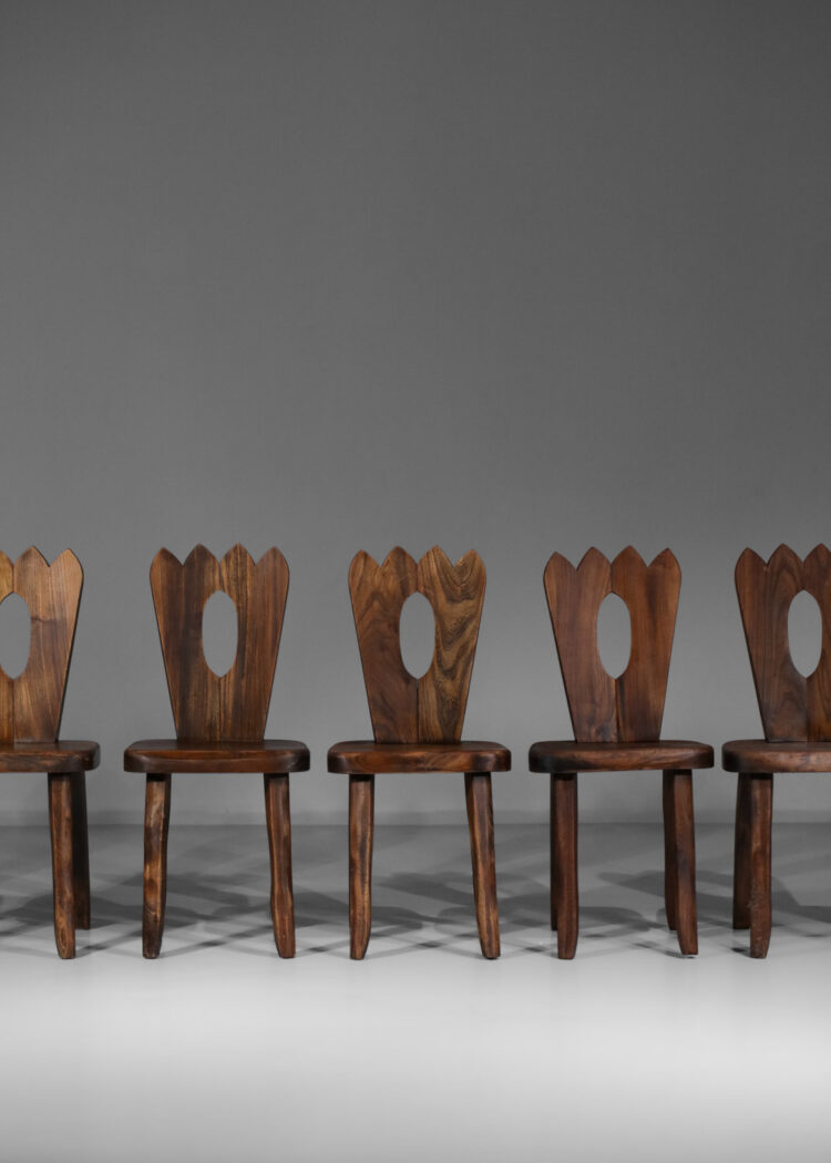 chaises francaise regionaliste en orme massif style hanninen olavi 2