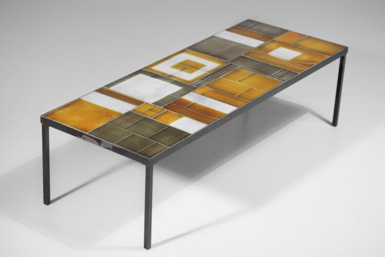 grande table basse roger capron années 60 ceramique E52612