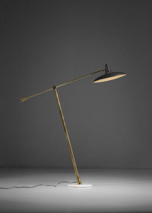 lampadaire italien stilnovo années 50 balancier vintage E402