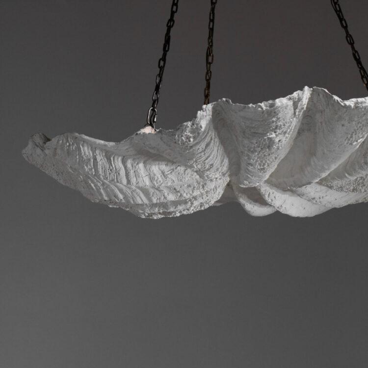 lustre en platre style serge roche ou jean michel frank E254