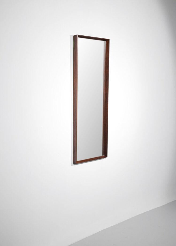 miroir danois scandinave en palissandre rectangulaire D289
