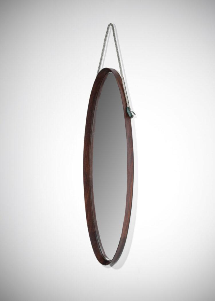 miroir italien ovale en palissandre E396