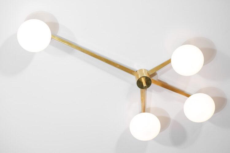 plafonnier 4 opalines style angelo lelli design italien GU106