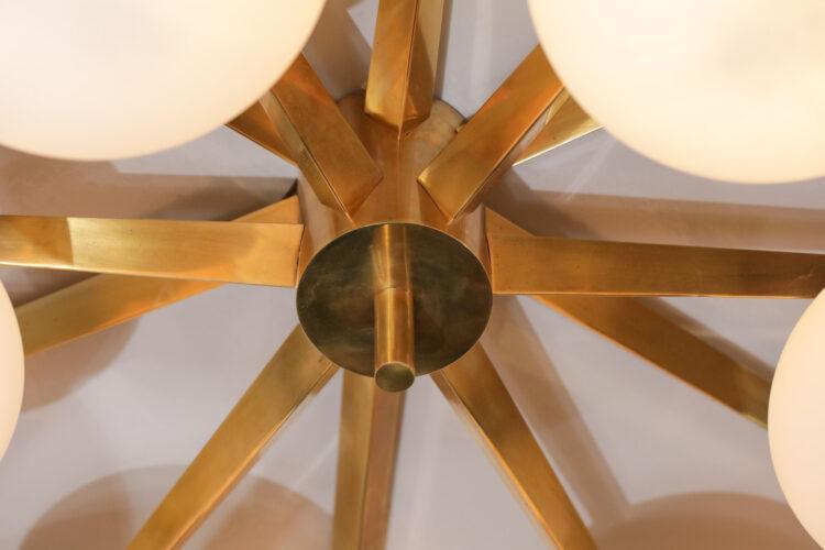 plafonnier style angelo lelli 12 opaline vintage design italien GU102