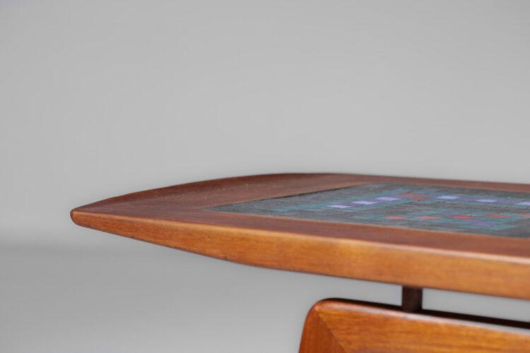 table basse scandinave Arne Hovmand Olsen pour Mogens Kold teck danoise F076