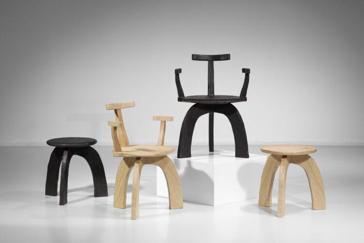 """Chaise fauteuil vincent vincent """"80/20"""" danke galerie - VV102 chêne et bois brulé"""