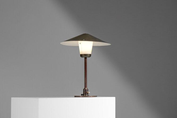 Lampe table bureau danoise bronze année 50 attribuée Lyfa E149