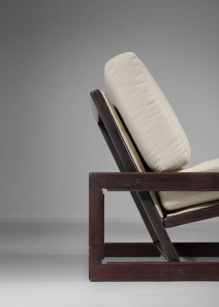 Paire de fauteuils chauffeuse Tobia scarpa beige italien cassina E459