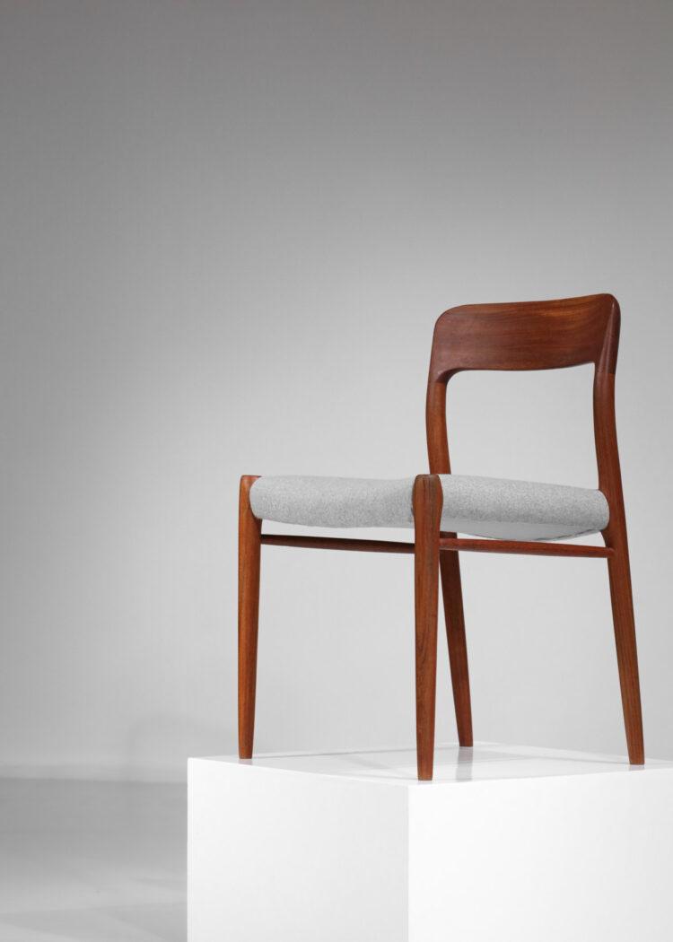 Set de 13 chaises Niels O Moller danoises scandinaves teck - B17 - E542