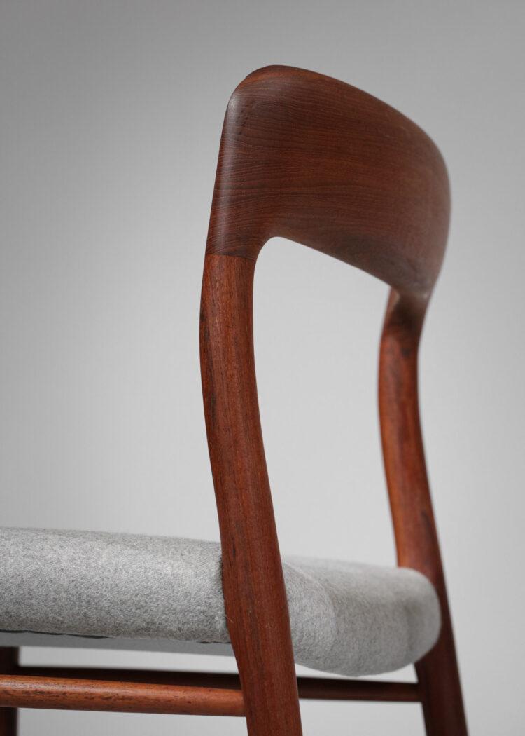 v Set de 13 chaises Niels O Moller danoises scandinaves teck - B17 - E542