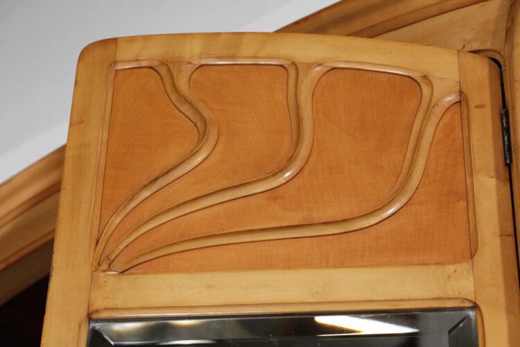 armoire française art nouveau des années 1920 style henry van de velde F106