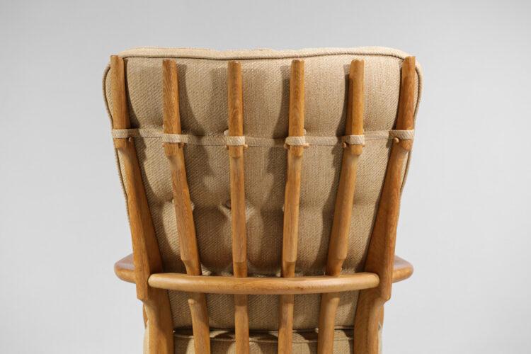 fauteuil Grand repos par guillerme et chambron en chene années 60 F125