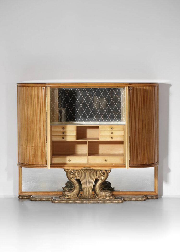 grand meuble bar italien par osvaldo borsani parchemin poisson E379