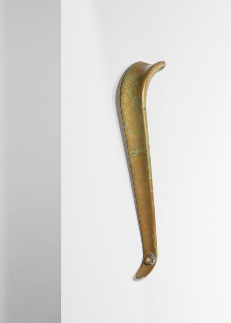 grandes poignées de porte en bronze doré années 50 E298