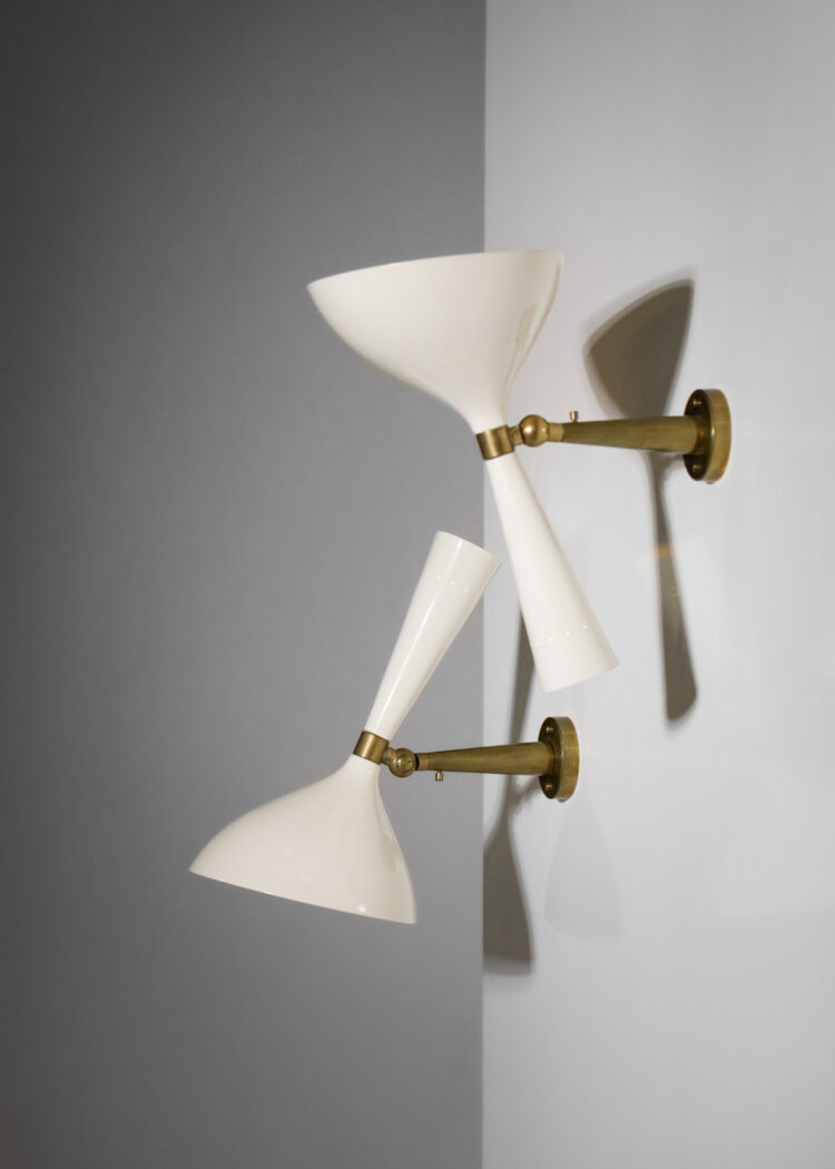 paire d_applique moderne italienne vintage style lumen RZ101