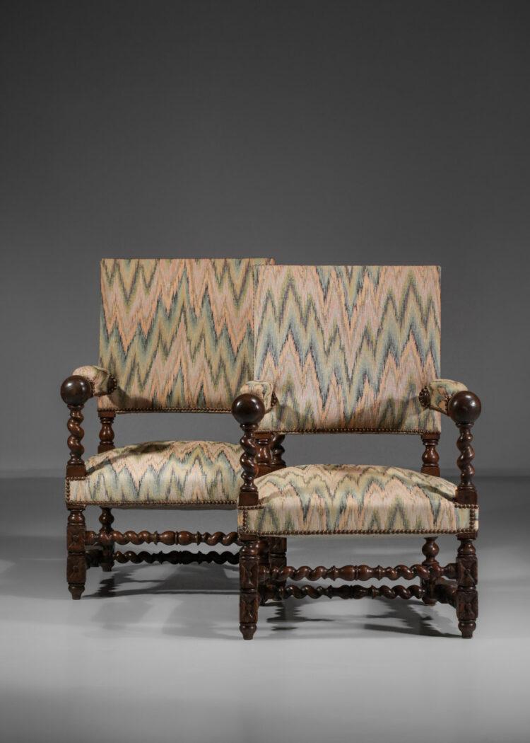 paire de fauteuil style Louis XIII