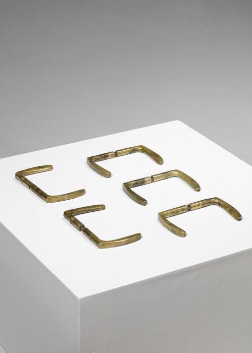 set de 10 poignées de porte en bronze françaises
