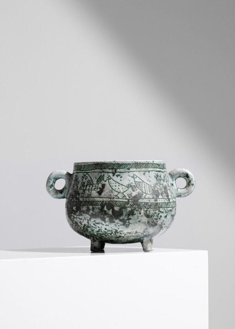 soupiere en ceramique par jacques blin vert E203
