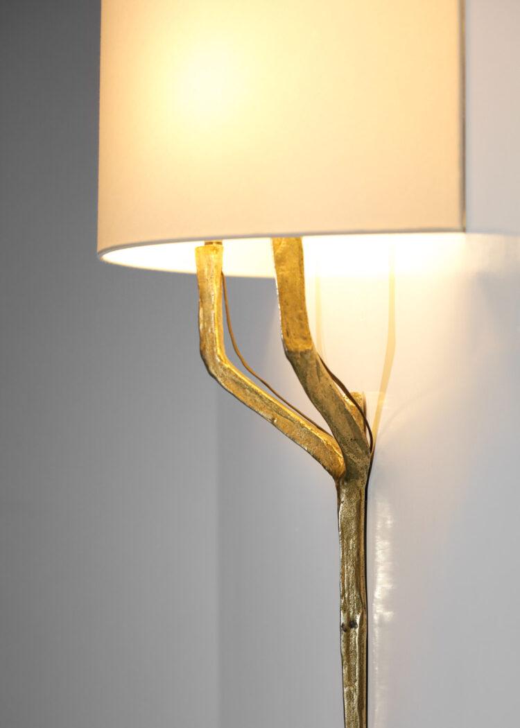 suite de 3 appliques felix agostini en bronze doré C011