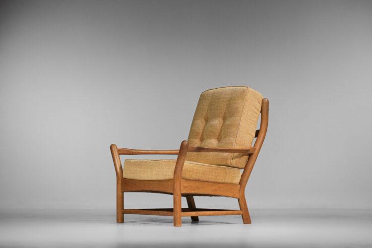 Paire de fauteuils en chêne massif Guillerme et Chambron