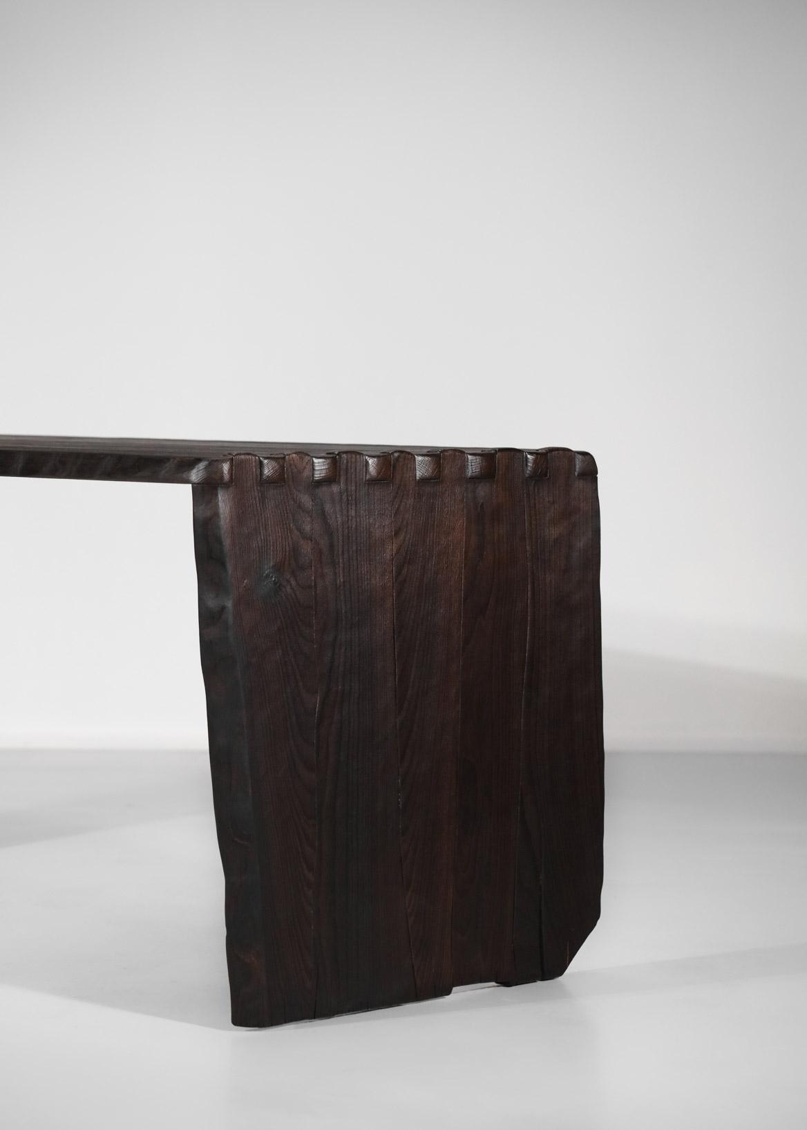 bureau 100:20 vincent vincent bois brulé table à manger0