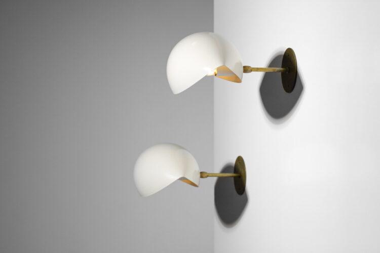 """paire d'appliques italiennes modernes design vintage """"Maxima"""""""