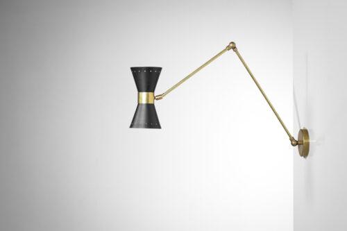"""paire d'applique moderne articulées noires design stilnovo """"Noa"""""""