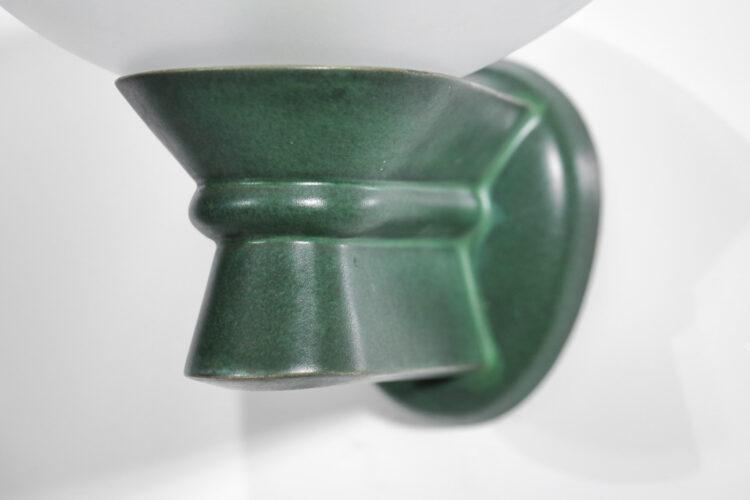 paire appliques céramique année 50 coupelles verre vintage