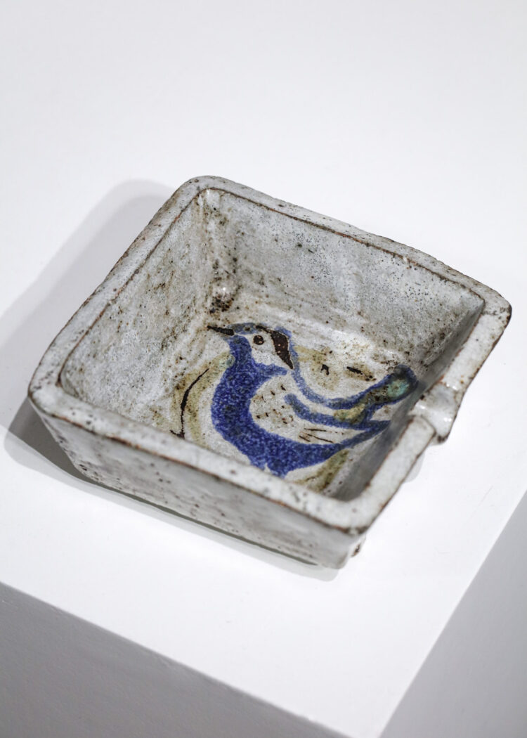 Cendrier en céramique Jean Derval oiseau années 50 atelier de Mûrier
