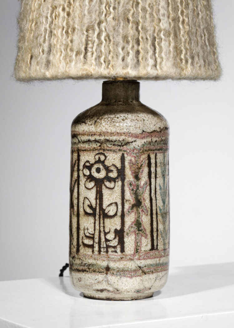 Lampe d'appoint / bureau céramique Jean Derval atelier de Mûrier années 60