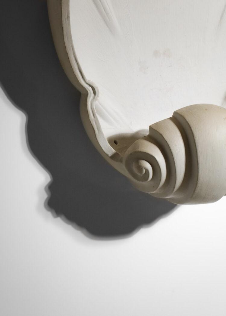 grande applique murale coquillage en plâtre