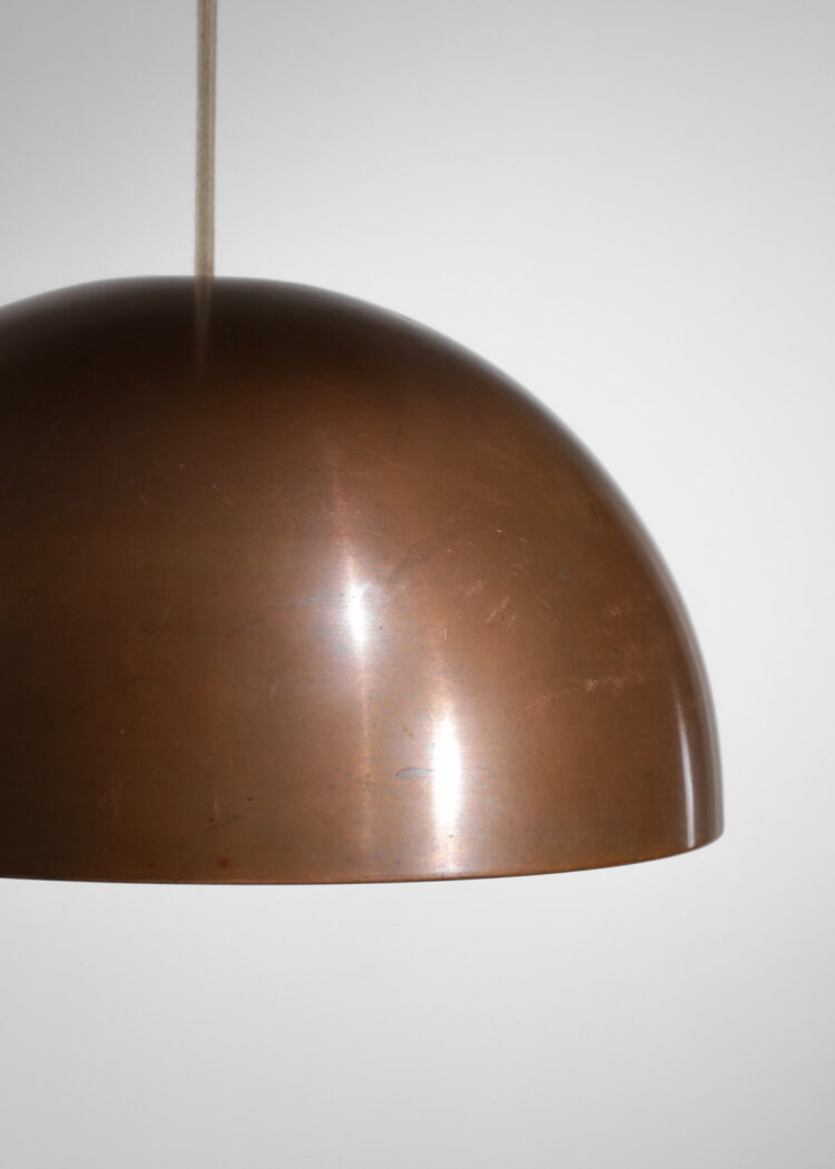 lot 3 suspensions danoises jo hammerborg cuivre années 60