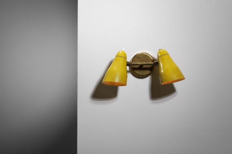 Applique double cocotte française années 50 laiton design vintage 6A8894