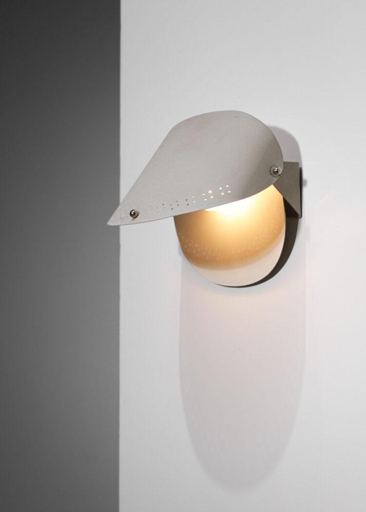 Applique suédoise grise années 70 métal laqué design scandinave