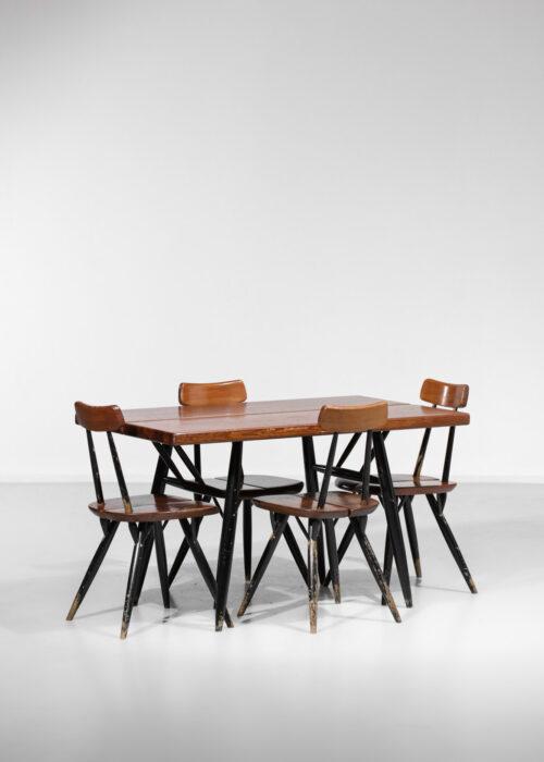 Ensemble de salle à manger scandinave d'Ilmani Tapiovaara années 50