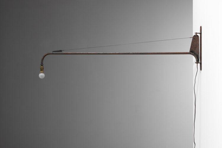 Lampe potence Jean Prouvé années 50