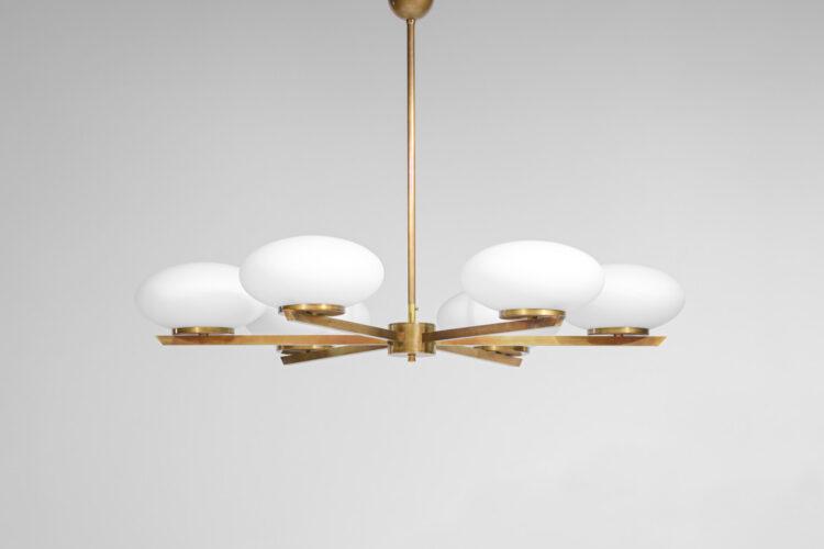"Lustre moderne design 6 opalines ovoïdes ""Cora"""