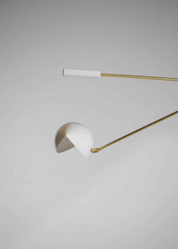 Lustre moderne italien style Stilnovo trois bras balancier contrepoids Balancia45