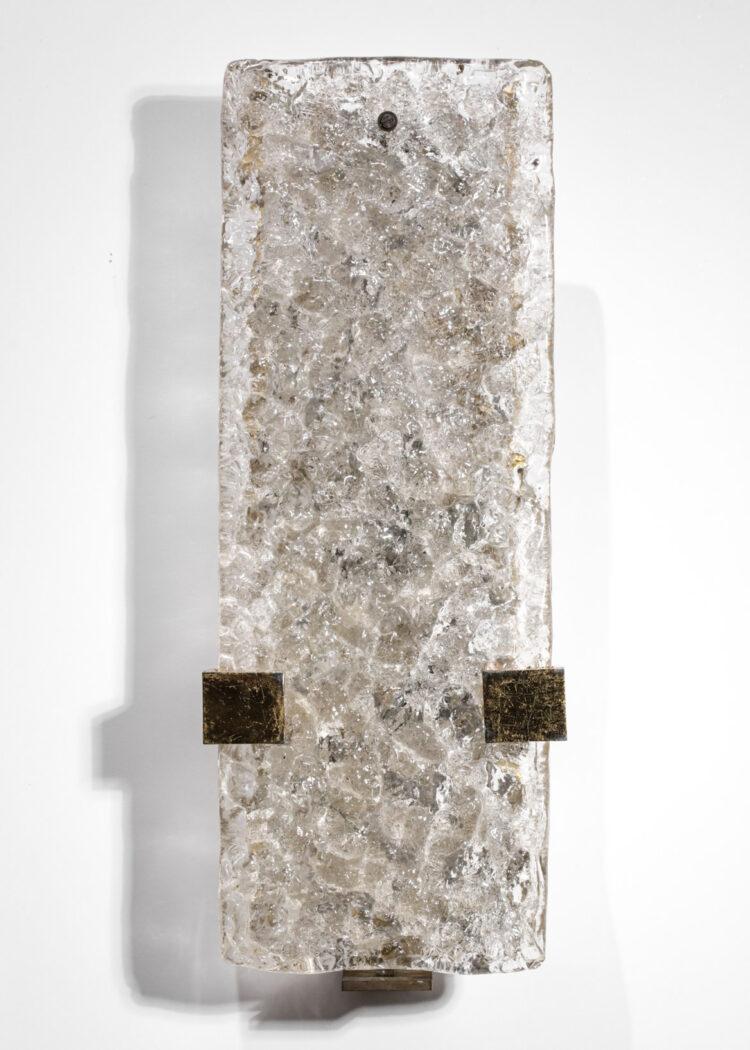 Paire d'appliques Uginox dalles de verre années 60