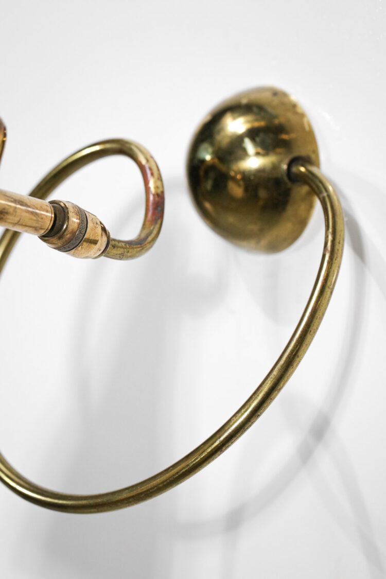 Paire d'appliques des années 50 style Pierre Guariche beige vintage