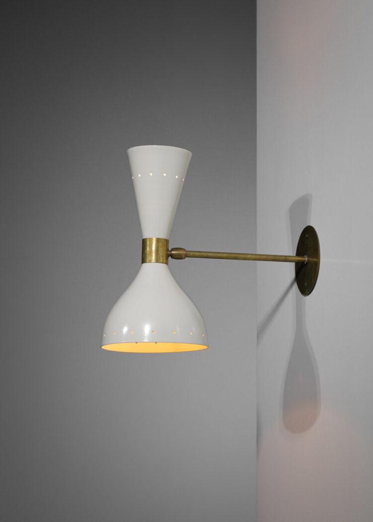 """paire d'applique itapaire d'appliques italiennes modernes """"sablier"""" noires et beiges design vintage"""
