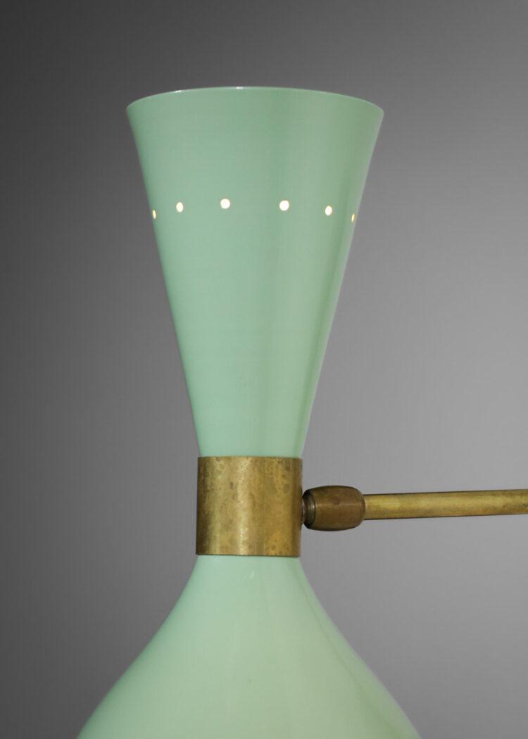 """paire d'appliques italiennes modernes vertes design vintage """"Sablier"""""""