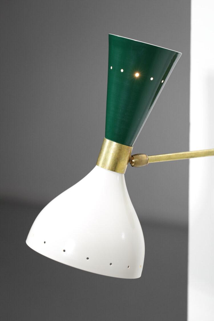 """paire d'appliques italiennes modernes vertes et beiges design vintage """"Sablier"""""""